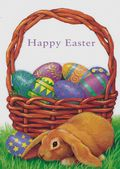 Easter Card-Basket Of Eggs